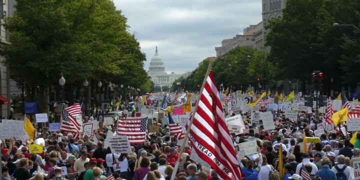 The Tea Party brought thousands to DC to protest Obama-era policies